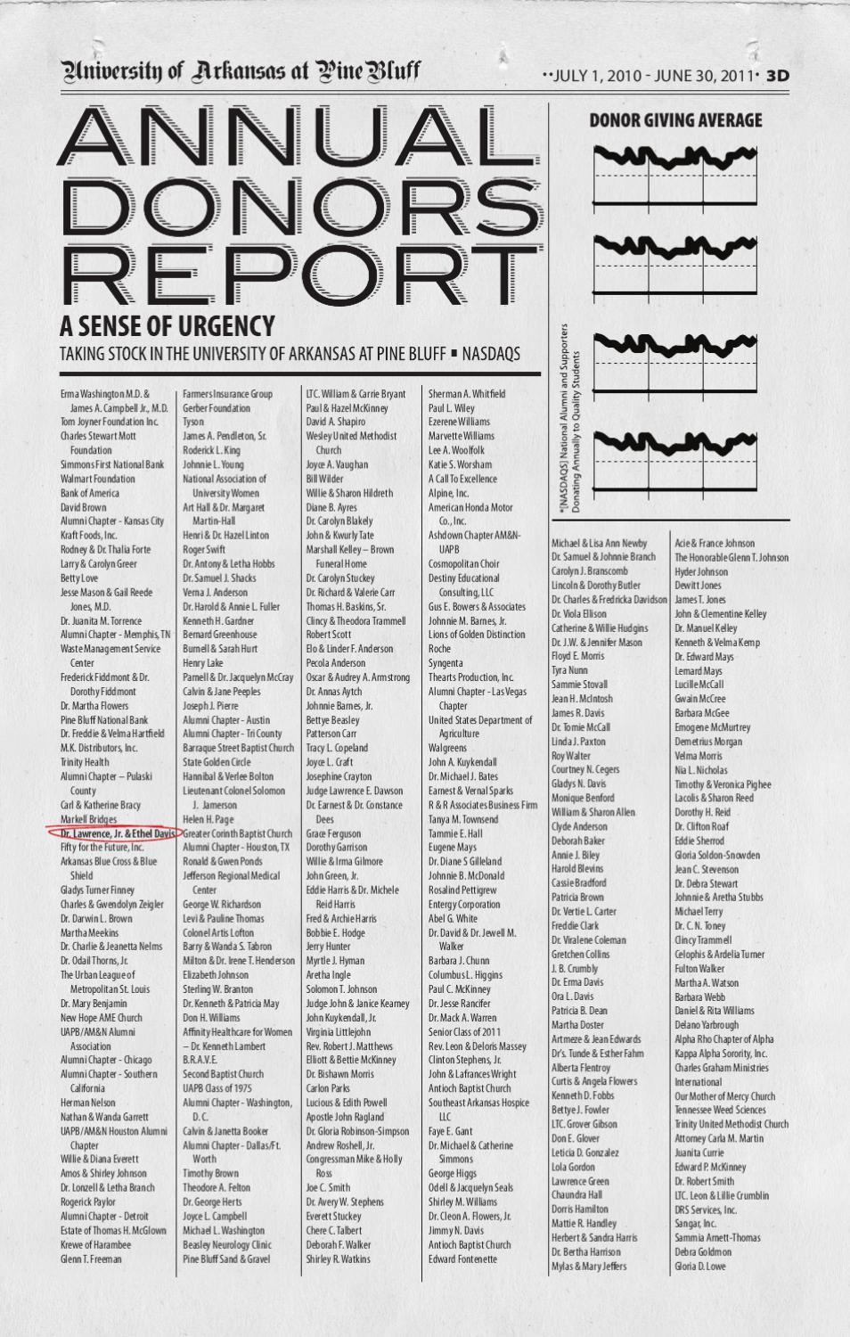 annual donor report 2011 by brian williams issuu