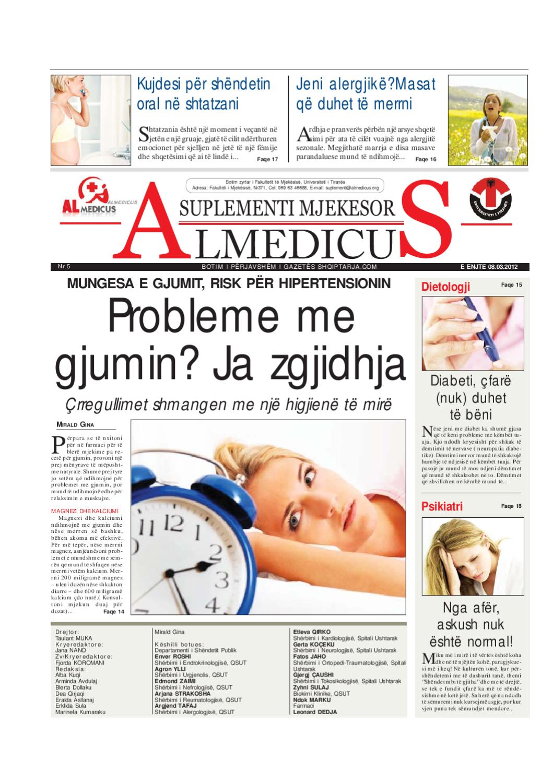 Suplementi Mjekesor Almedicus nr 5 by Gazeta Almedicus - issuu