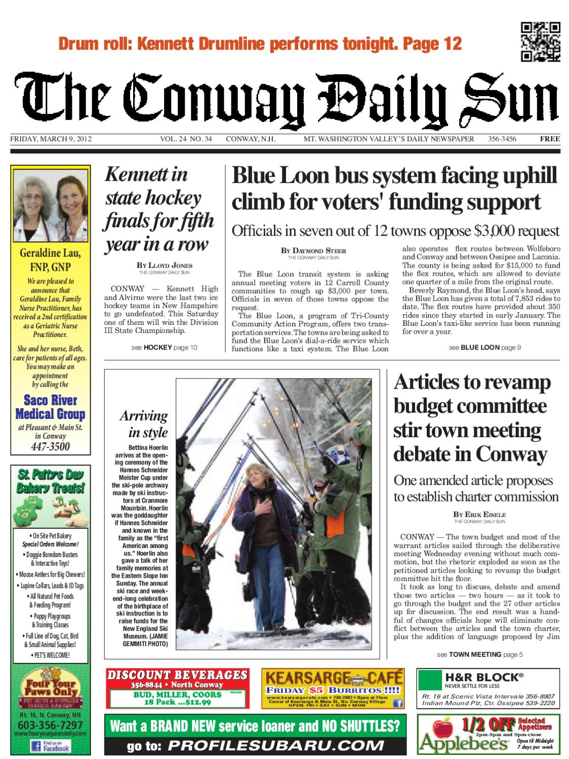 The Conway Daily Sun, Friday, March 9, 2012 by Daily Sun - issuu