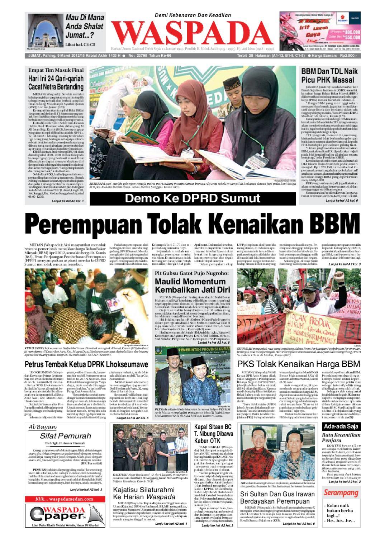 Waspada Jumat 9 Maret 2012 By Harian Issuu Rkb Bni Tegal Kranjang Buah Nur Fashion And Art