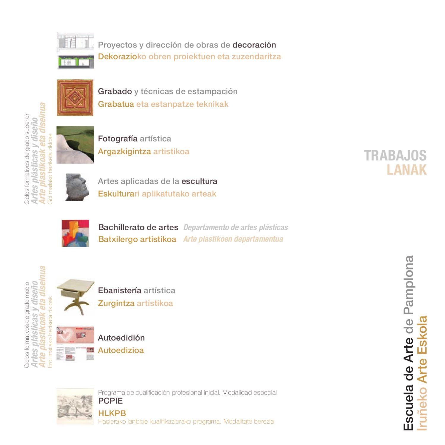 Trabajos 2012 Escuela De Arte De Pamplona By Escuela De