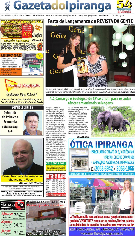 gazeta do ipiranga edição de 09 03 2012 by casé oliveira issuu54837 Depois De Quantos Dias Posso Fazer Exame #5
