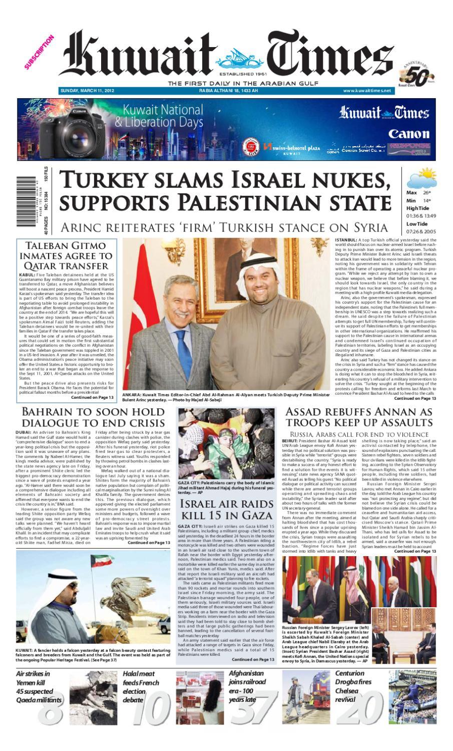 11 Mar 2012 By Kuwait Times Issuu