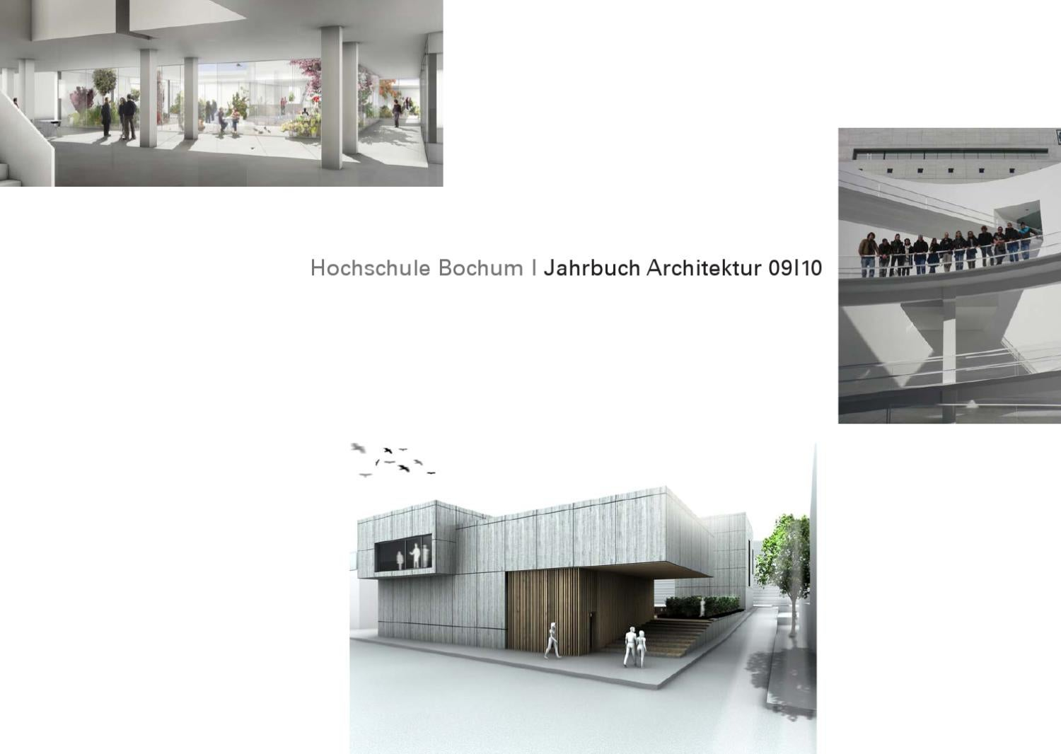Jahrbuch Architektur HS Bochum 2010 by harald gatermann - issuu