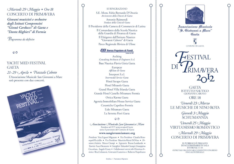 Gaeta Ceramiche Srl.Festival Di Primavera By Associazione Musicale San Giovanni