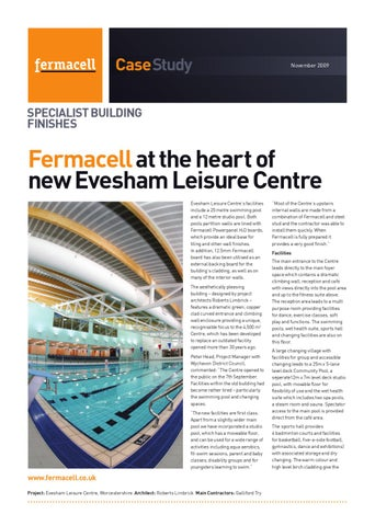72824b30b15 Fermacell at the heart of new Evesham Leisure Centre by Anatolie ...