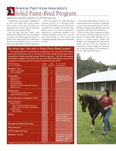 Solid-Colour Paint Horses by appaloosa - issuu