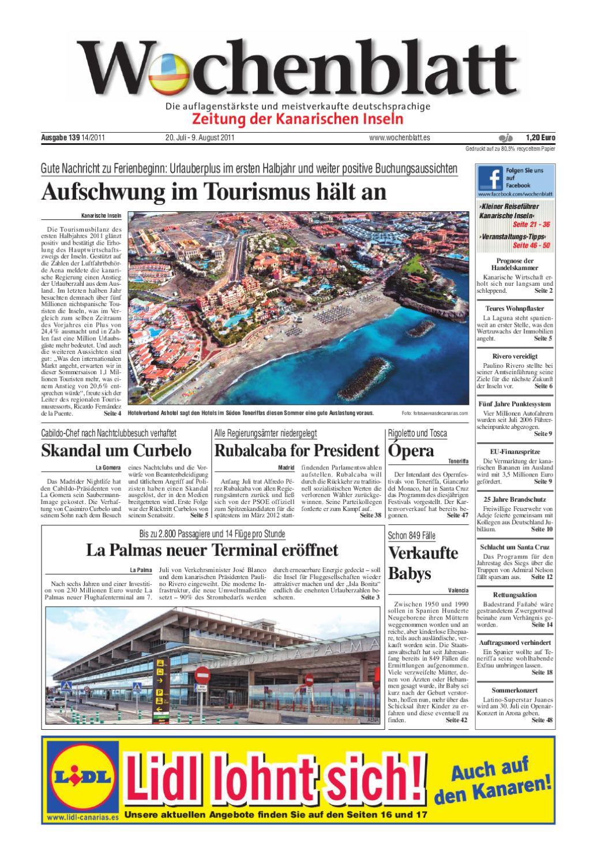 Wochenblatt   Zeitung der Kanarischen Inseln   Ausgabe 20 20 ...