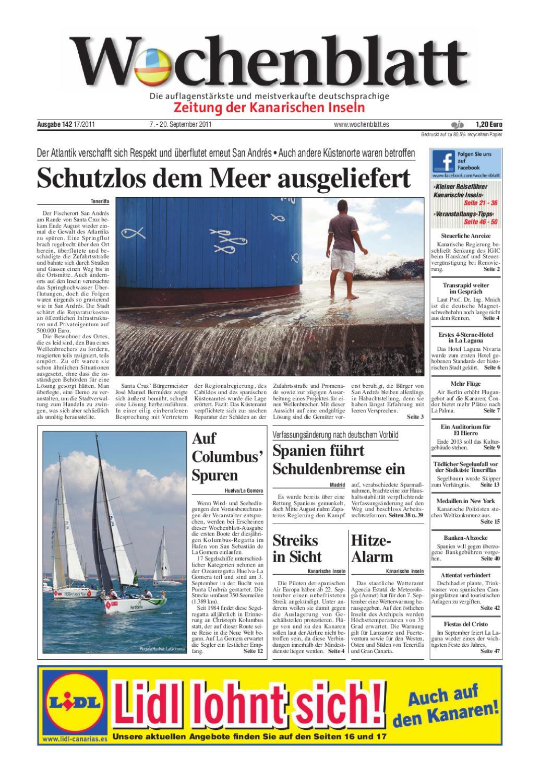 Wochenblatt - Zeitung der Kanarischen Inseln - Ausgabe 142 (7. - 20 ...