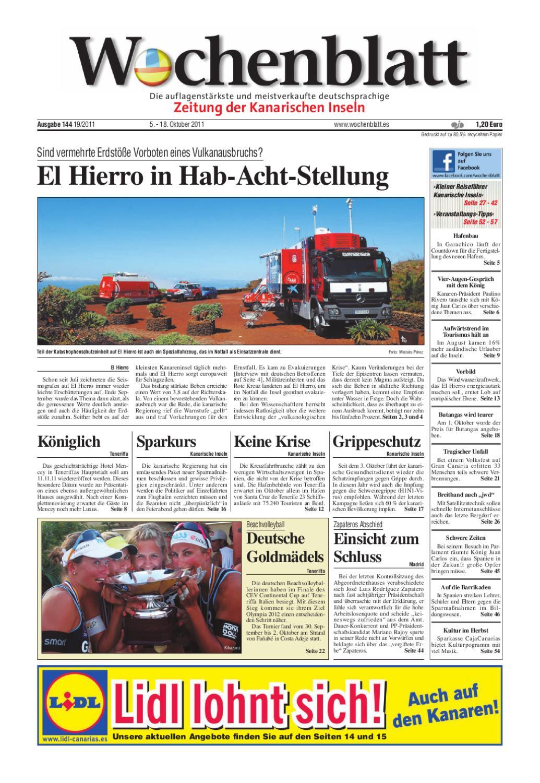 Wochenblatt - Zeitung der Kanarischen Inseln - Ausgabe 144 (5. - 18 ...
