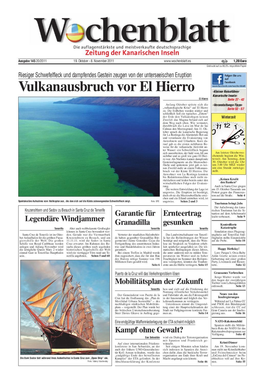 Wochenblatt - Zeitung der Kanarischen Inseln - Ausgabe 145 (19 ...