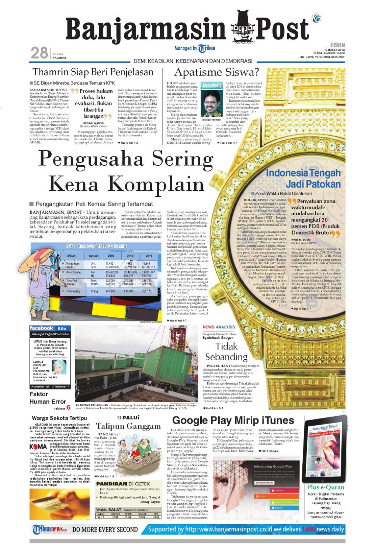 Banjarmasin Post Edisi Cetak Senin 12 Februari 2012 By Fcenter Meja Makan Dt Sienna Dan Dc Danish Jabodetabek Issuu