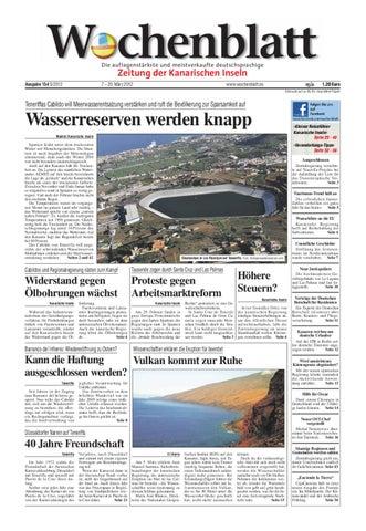 Wochenblatt - Zeitung der Kanarischen Inseln - Ausgabe 154 (7. - 20 ...
