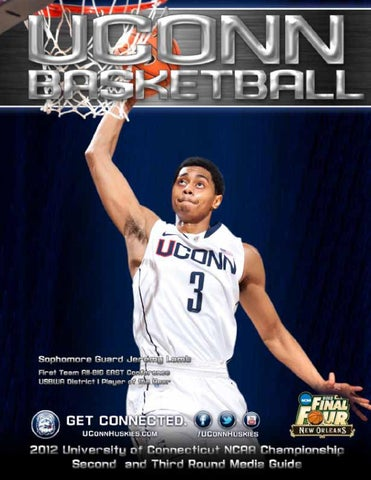 52cb76d70 UConn Men s Basketblal NCAA Second and Third Round Media Guide by ...