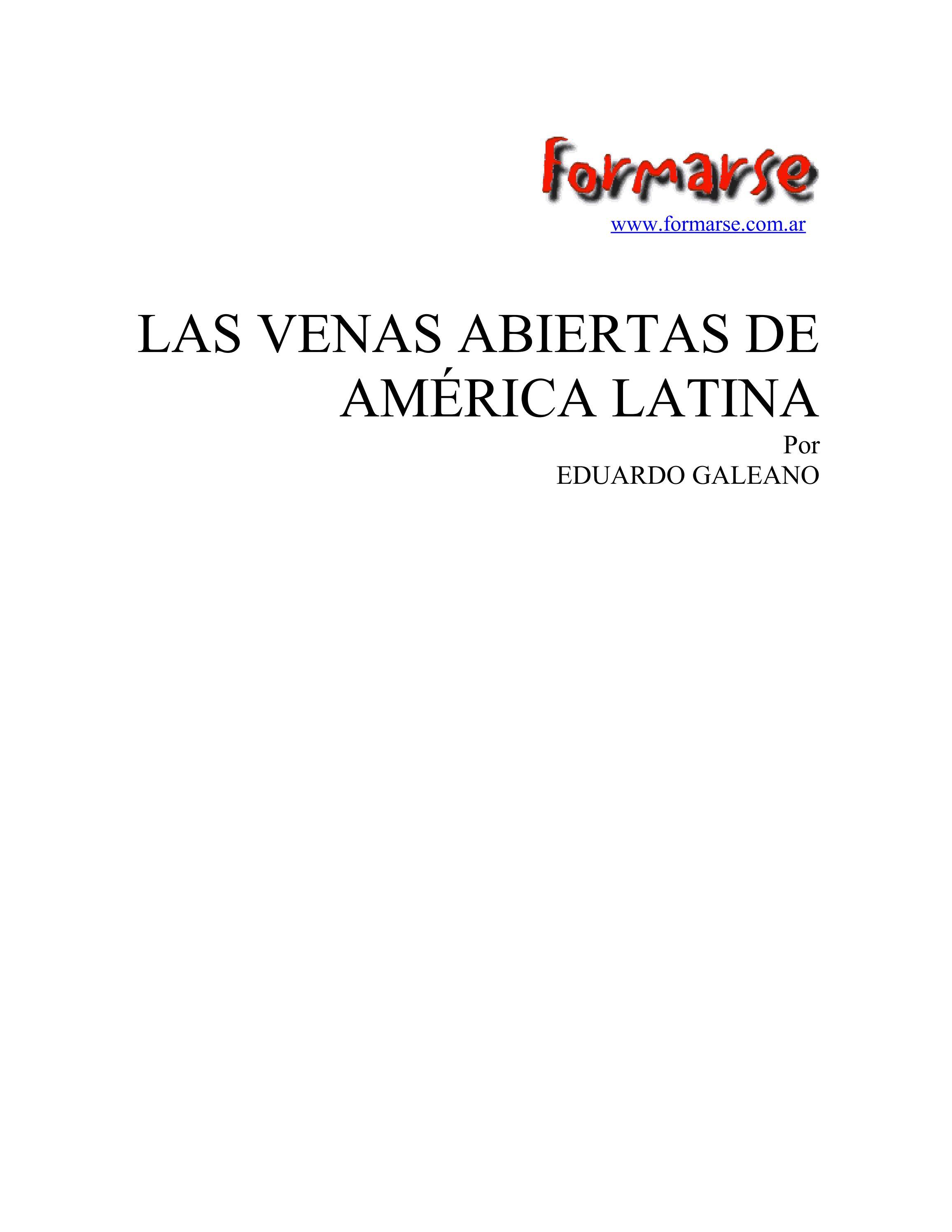 LAS VENAS ABIERTAS DE AMÉRICA LATINA by Edu Suárez Bitencourt - issuu 69bb192ef9d
