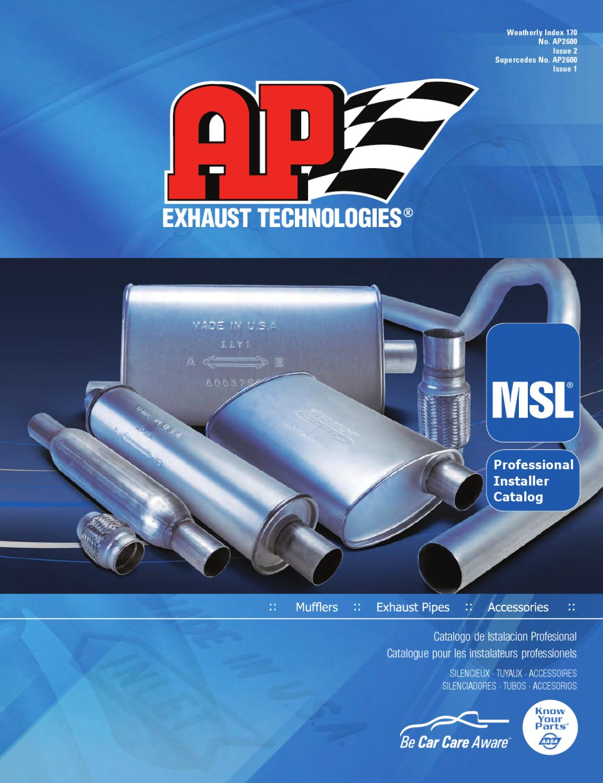 Exhaust Muffler AP Exhaust 700308