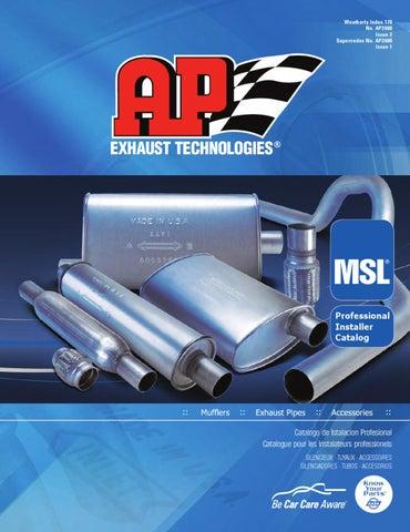 Exhaust Muffler AP Exhaust 700044 fits 90-97 Ford Aerostar