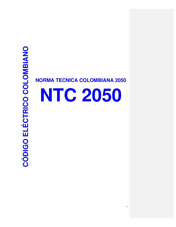 norma ntc 2050