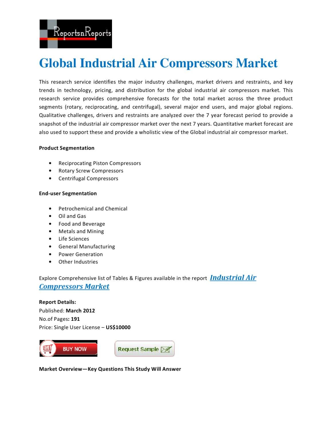 Global Industrial Air Compressors Market by lisa martin - issuu