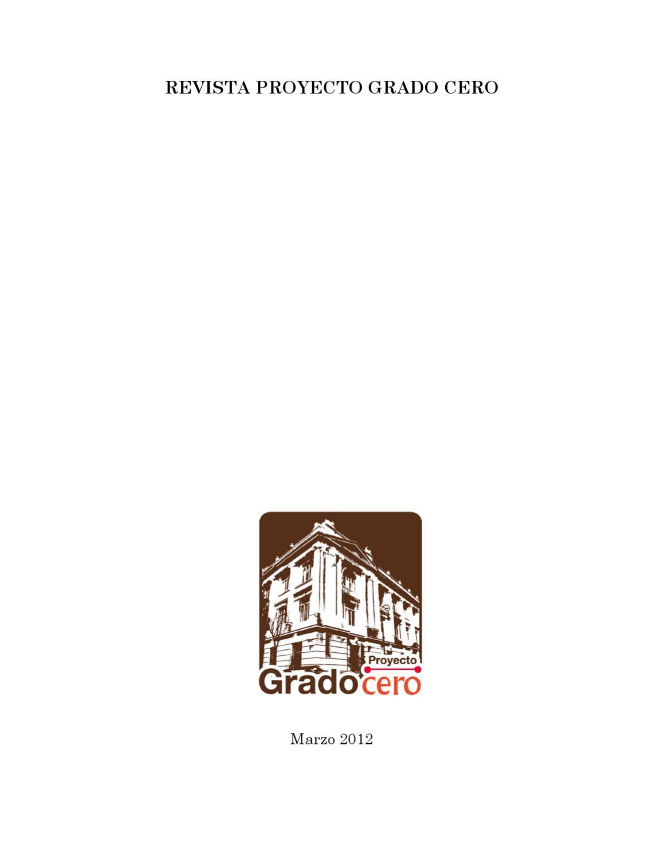 Calendario Examenes Unican Derecho.Revista Proyecto Grado 0 Marzo 2012 Unam By Ultimos En