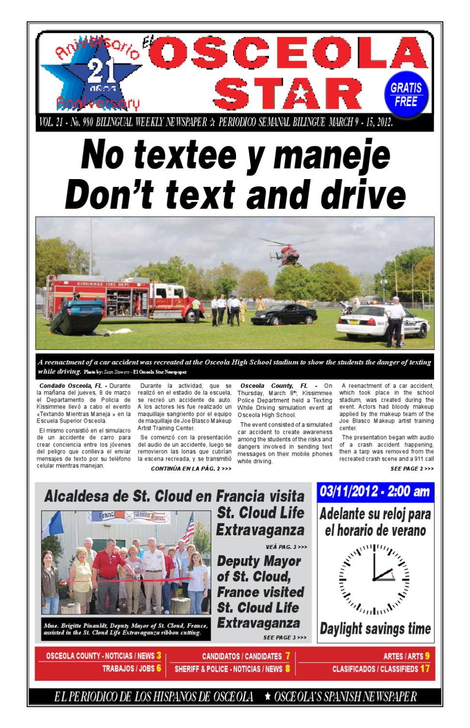 EL Osceola Star Newspaper - March 9 - 15, 2012 by El Osceola Star