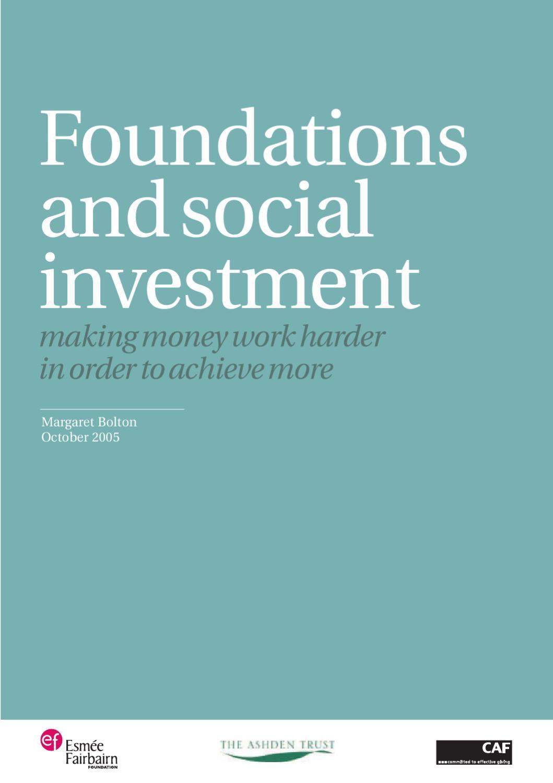ashden trust social investment networks