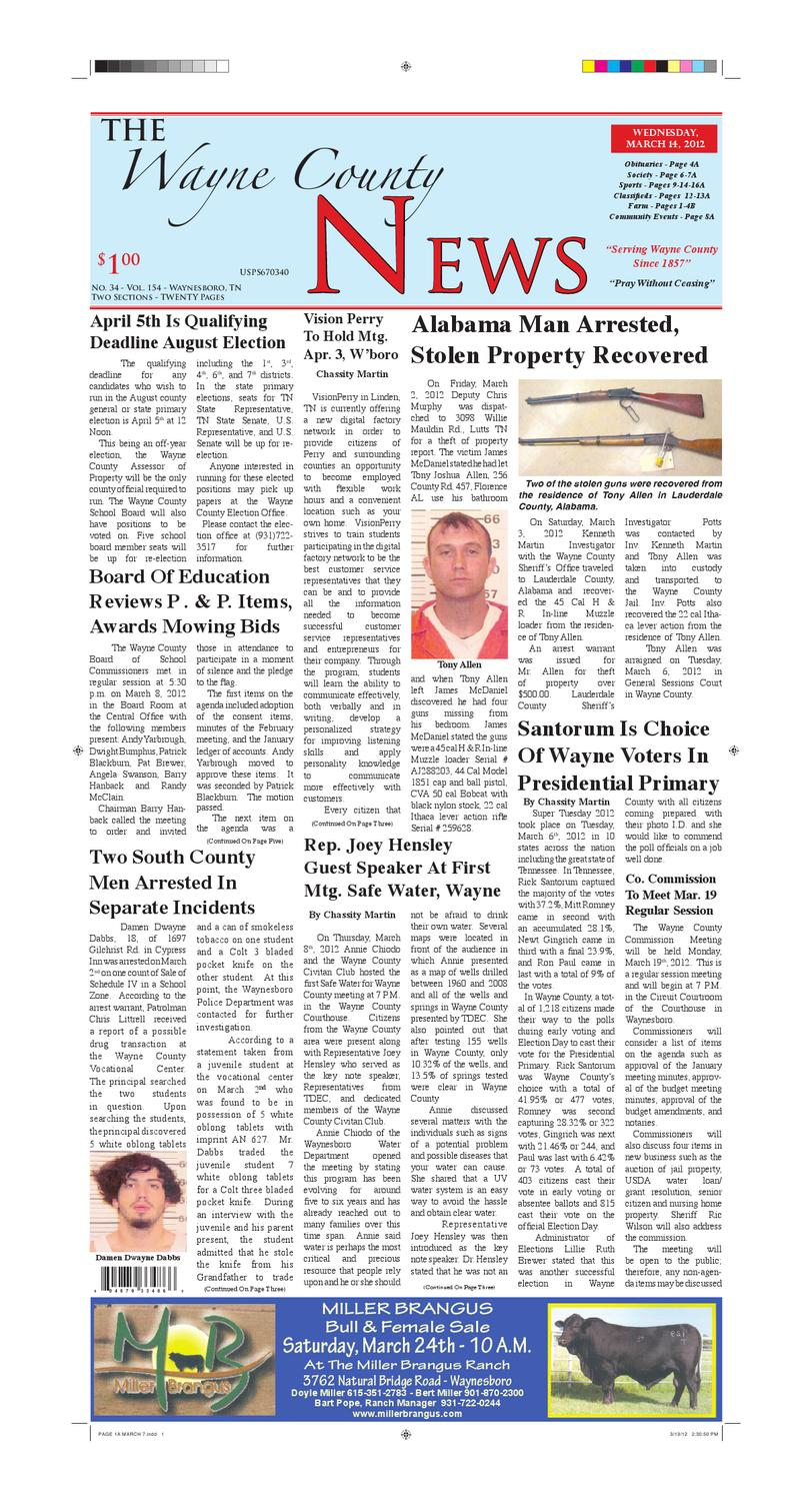 Wayne County News 03-14-12 by Chester County Independent - issuu