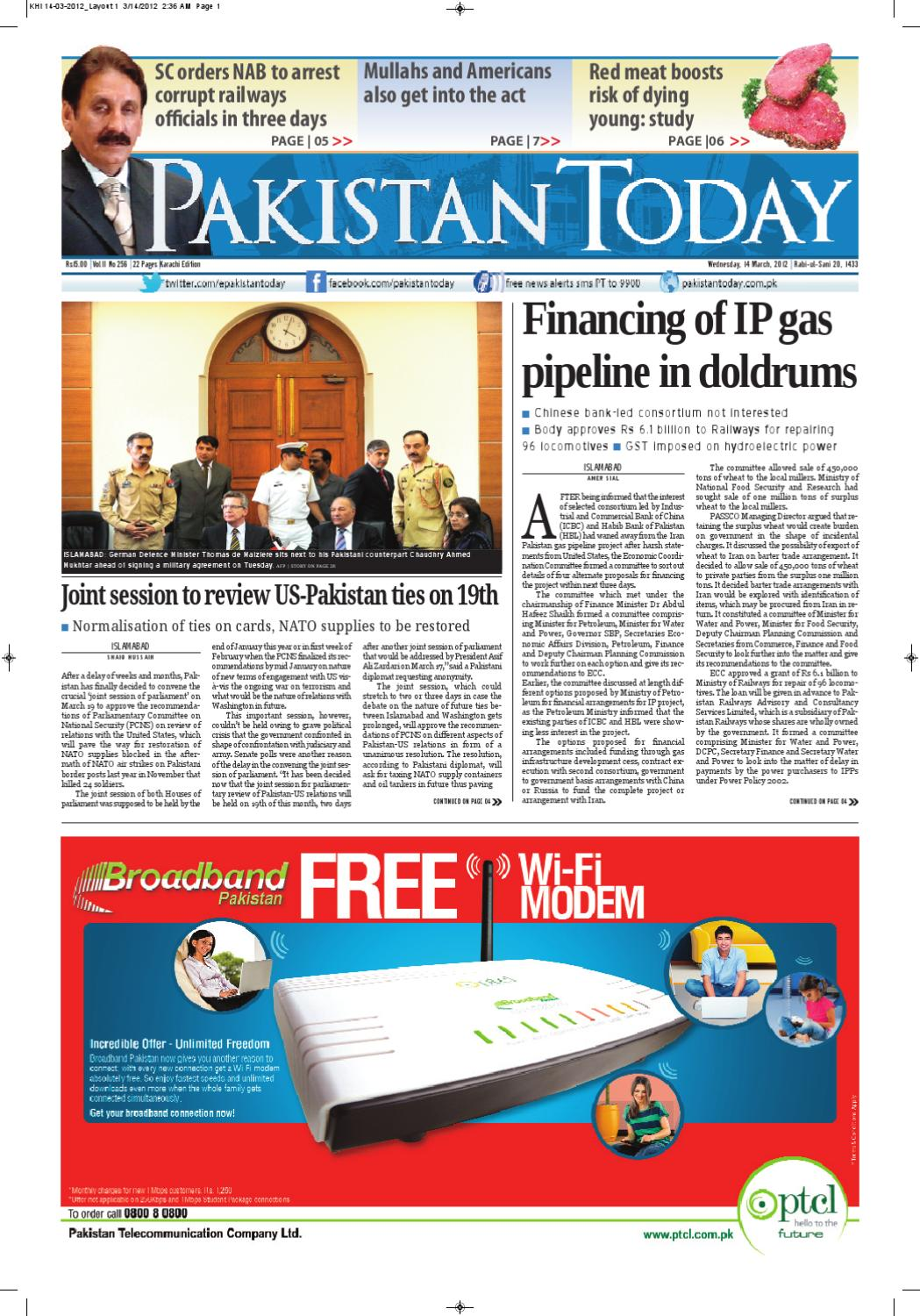 3f7fc43078 e-paper pakistantoday 14th march, 2012 by Pakistan Today - issuu