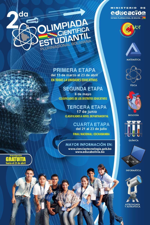 2da. OLIMPIADA CIENTIFICA ESTUDIANTIL by portal educabolivia - issuu