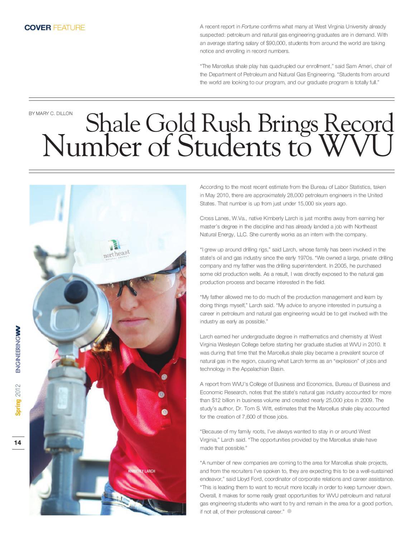 EngineeringWV Spring 2012 by WVU Statler College of