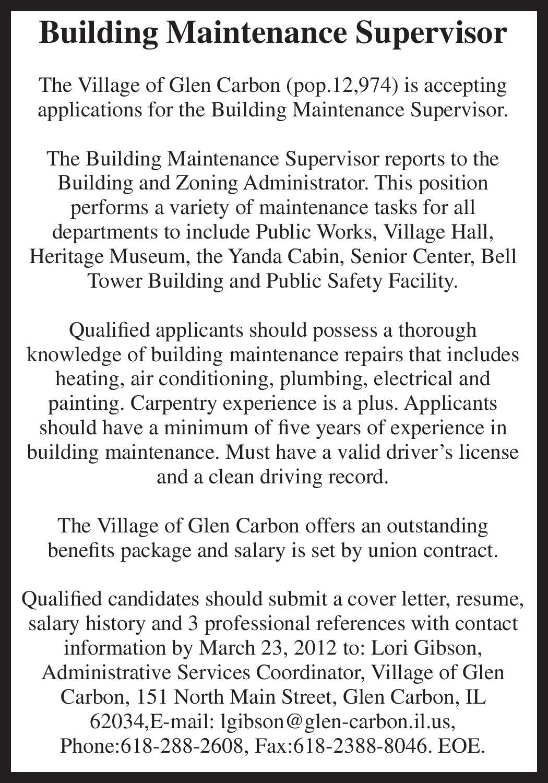 Building maintenance supervisor by edwardsville publishing issuu madrichimfo Choice Image
