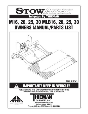 waltco liftgate wiring diagram schematics and wiring diagrams waltco diagram 3 wdlxt om by william kean issuu