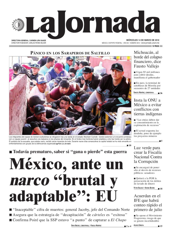 La Jornada, 03/14/2012 by La Jornada - issuu