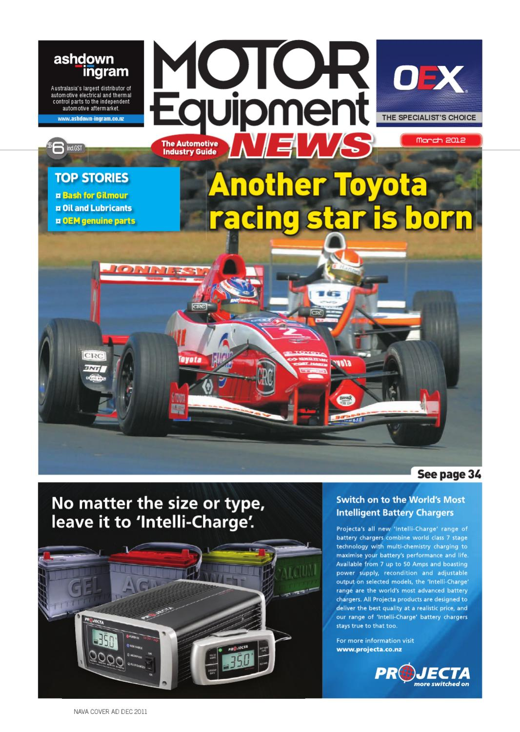 Motor Equipment News March 2012 By Adrenalin Publishing Ltd Issuu Our Delica Campervans 12v Electrical Setup