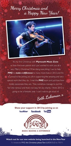 Seth Lakeman Wishes Plymouth Music Zone A Merry Christmas By