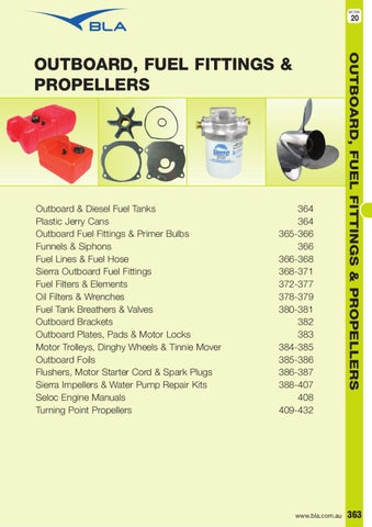 Section 20 - Outboard, Fuel, Fittings & Propellers by BLA - issuu