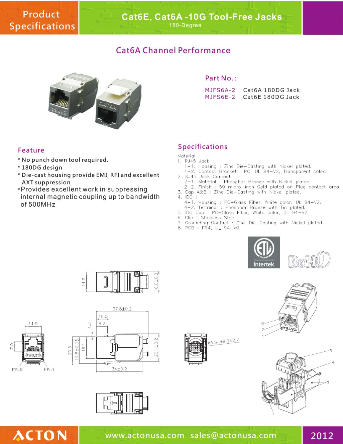 Spec Acton 1 By Danny Liu Issuu Cat3 Keystone Jack Wiring Diagram