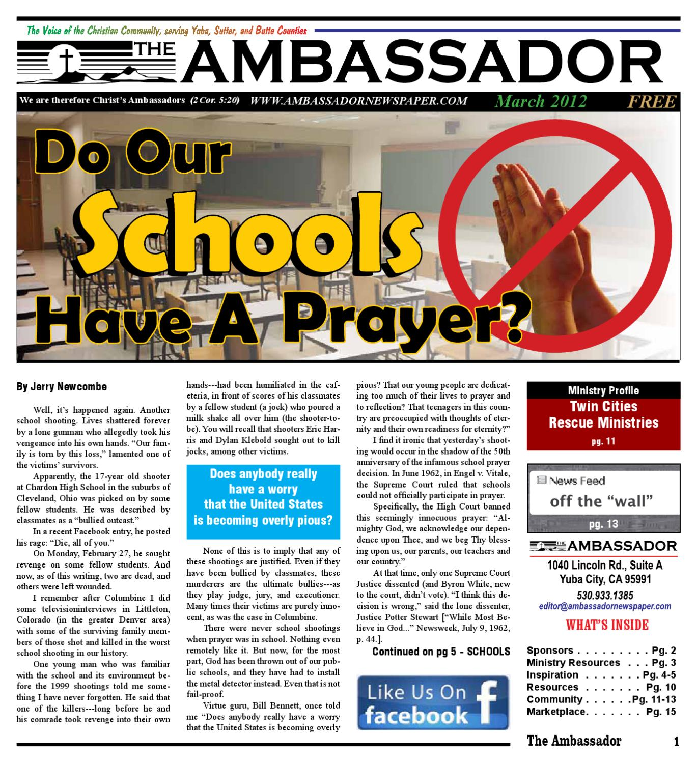 School Shooting In Suburban Denver: March 2012 By The Ambassador Newspaper