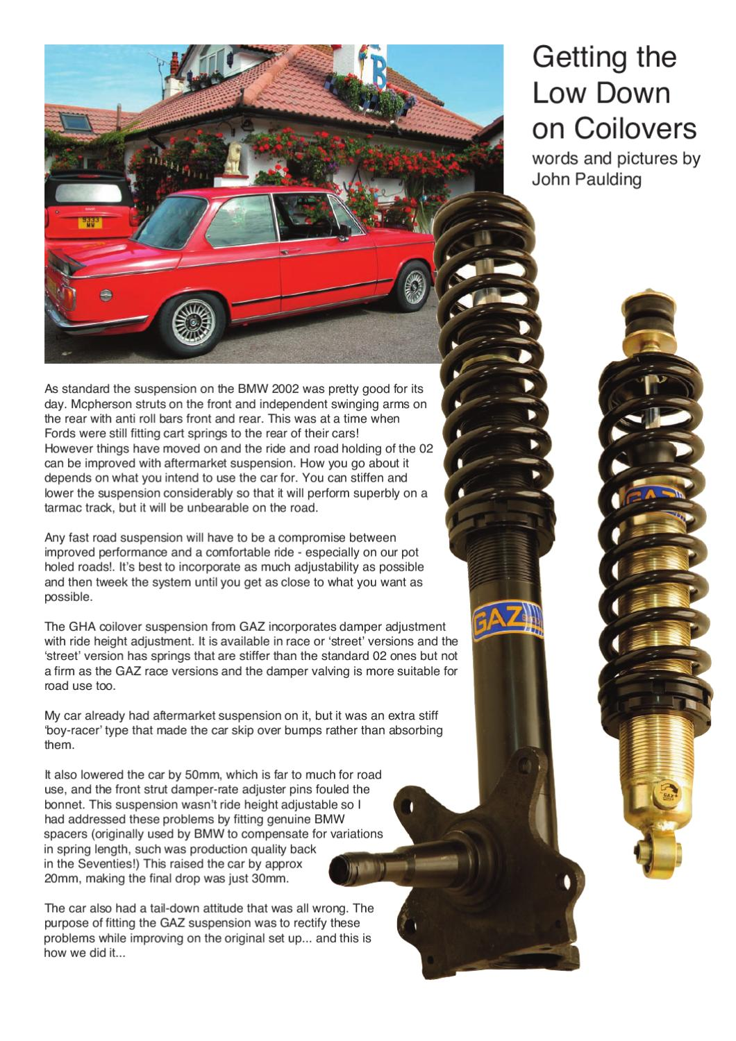 How to fit GAZ coilovers by GAZ Shocks - issuu