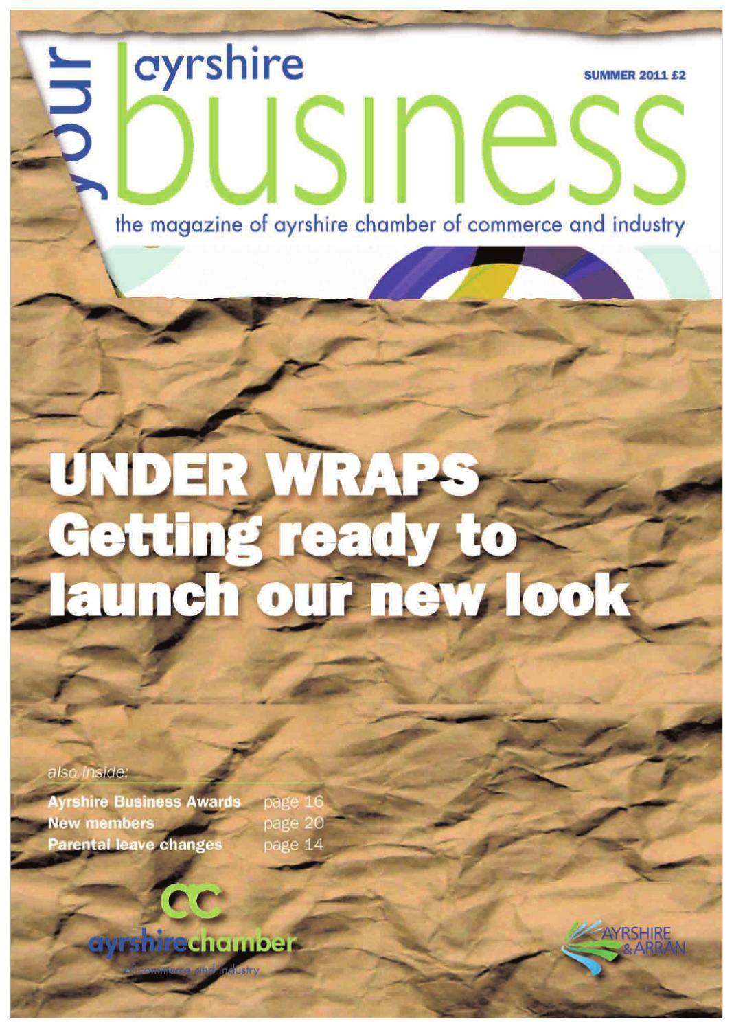 Your Ayrshire Business Summer 2011 By Chamber Of Commerce Sustainable Development Windpower South Council Industry Issuu