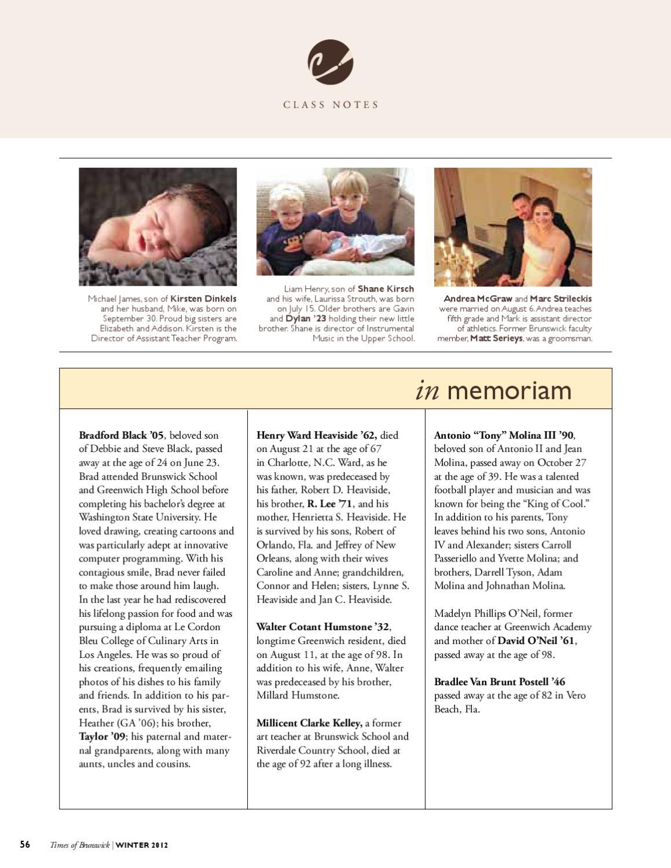 Times of Brunswick - Winter 2012 by Brunswick School - issuu