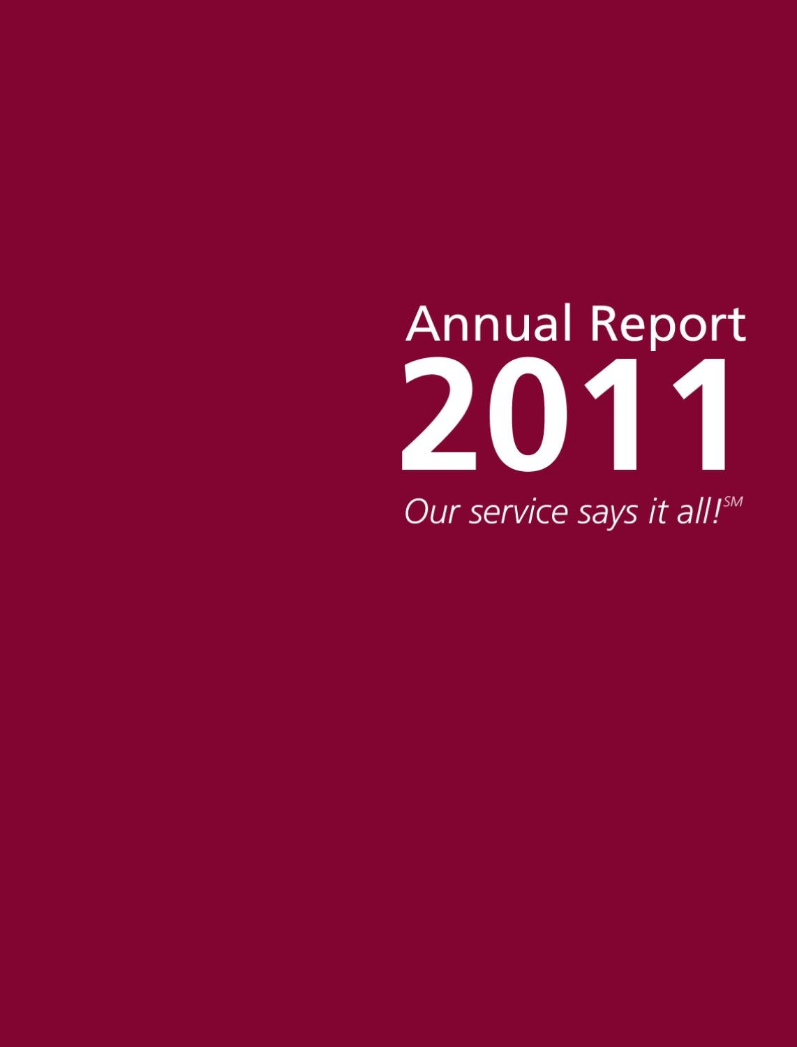 2011 CAP COM Federal Credit Union Annual Report by CAP COM