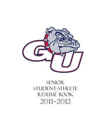 senior student athlete resume book