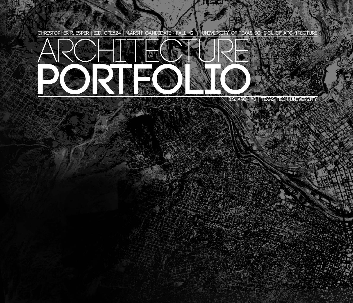 architecture portfolio by christopher esper issuu