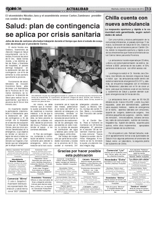 4f275648 Diario Opinión - Edición Impresa by Diario Opinion - issuu