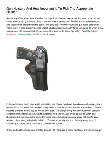 4b6fed591b36 Gun Holsters And How Important Is To Pick The Appropriate Holster Almost  any of the states in which allow carrying of your firearm require that the  weapon ...