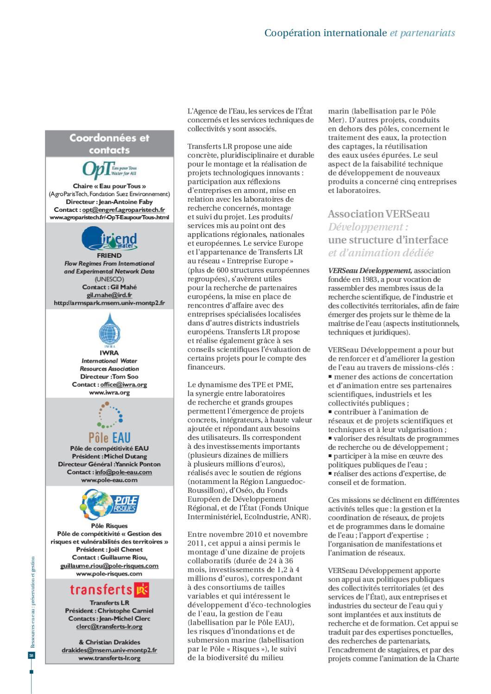 Ressources en eau pr servation et gestion by agropolis international issuu - Office internationale de l eau ...