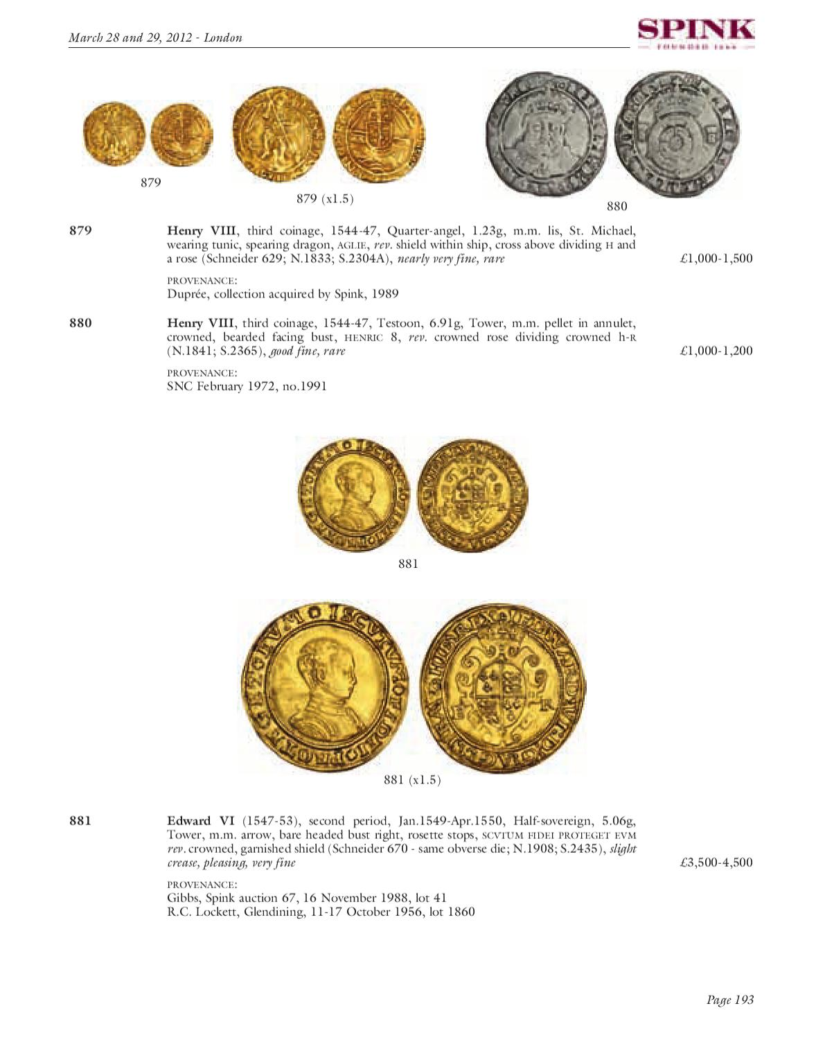 The Magnus Collection, Ancient, English & Foreign Coins and