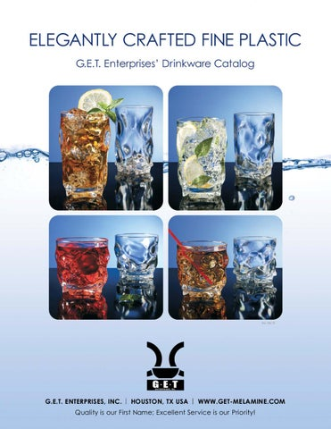 0232ab42260 ELEGANTLY CRAFTED FINE PLASTIC G.E.T. Enterprises' Drinkware Catalog