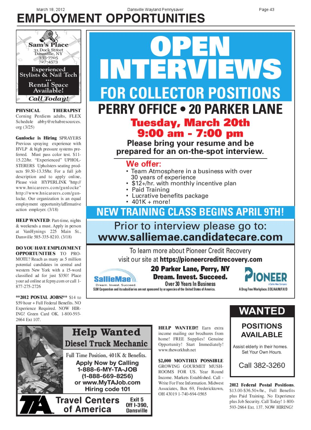March 18, 2012 by Dansville-Wayland PennySaver - issuu